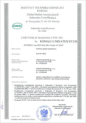 Certyfikat Komag